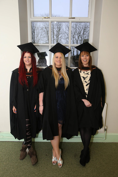 Pictured is Sarah Forde, Moincoin, Co Kilkenny, Niamh Hartford, Rosslare, Co Wexford, Rebecca Flynn, Cahir, Co Tipperary who graduated in Psychiatric Nursing. Picture: Patrick Browne