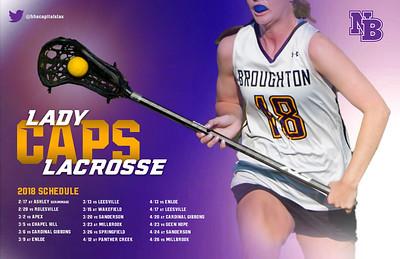 2018 Lady Caps Lacrosse Calendar