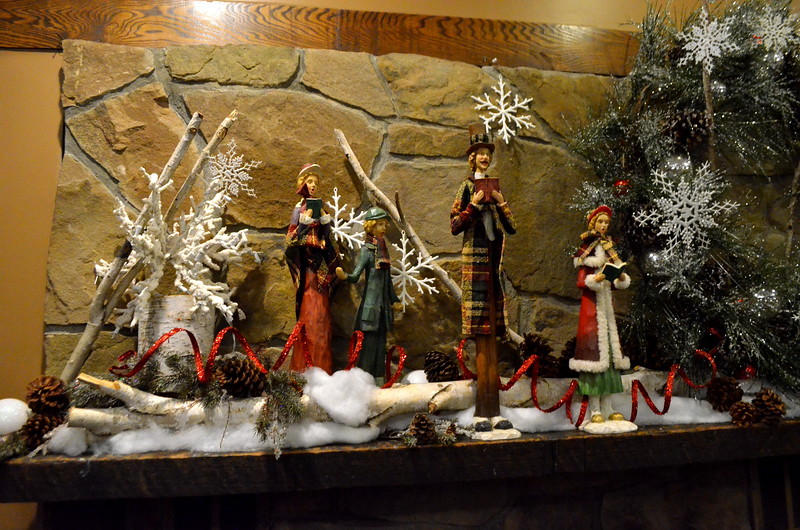 Some of the Christmas decorations inside Turf Tavern.