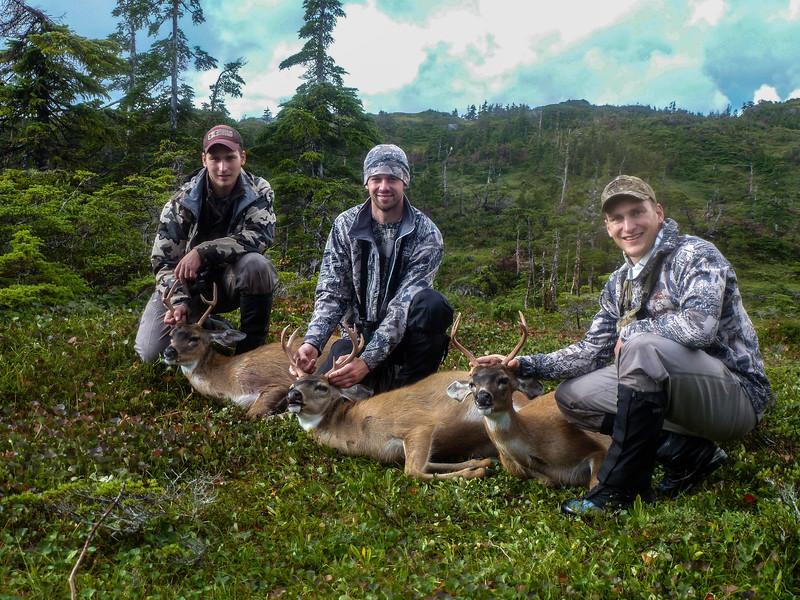 Triple header Sitka Blacktail deer