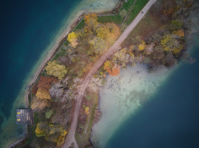 Bavarian autumn from above