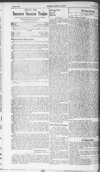 Summer Session Trojan, Vol. 15, No. 3, June 30, 1936