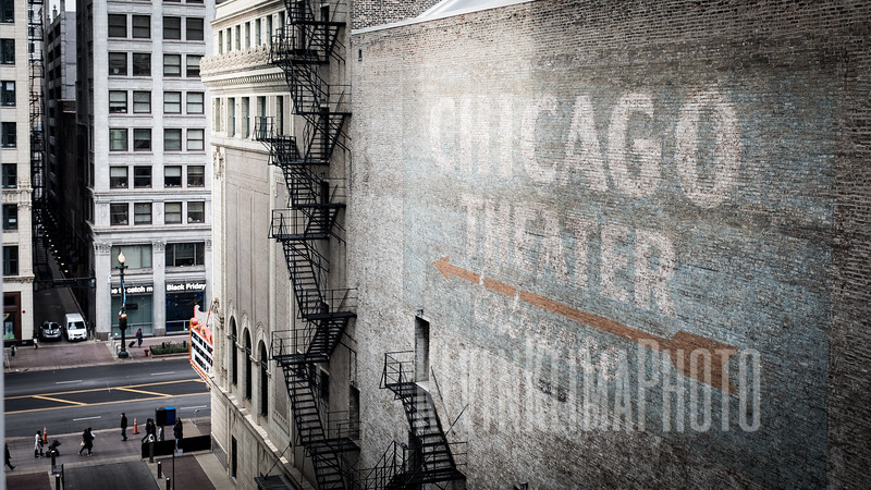 Chicago Theatre Ghost Sign