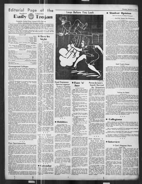 Daily Trojan, Vol. 27, No. 58, January 06, 1936