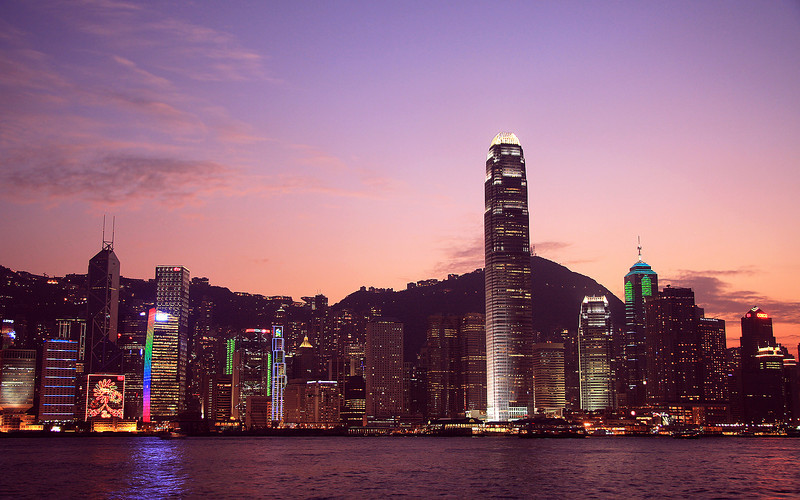Dusk over Victoria Harbour
