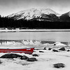 Red Canoe at Patricia Lake