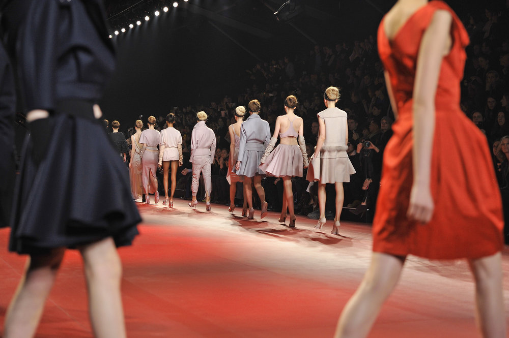 . Models walk the runway during the Nina Ricci Fall/Winter 2013 Ready-to-Wear show as part of Paris Fashion Week on February 28, 2013 in Paris, France.  (Photo by Pascal Le Segretain/Getty Images)
