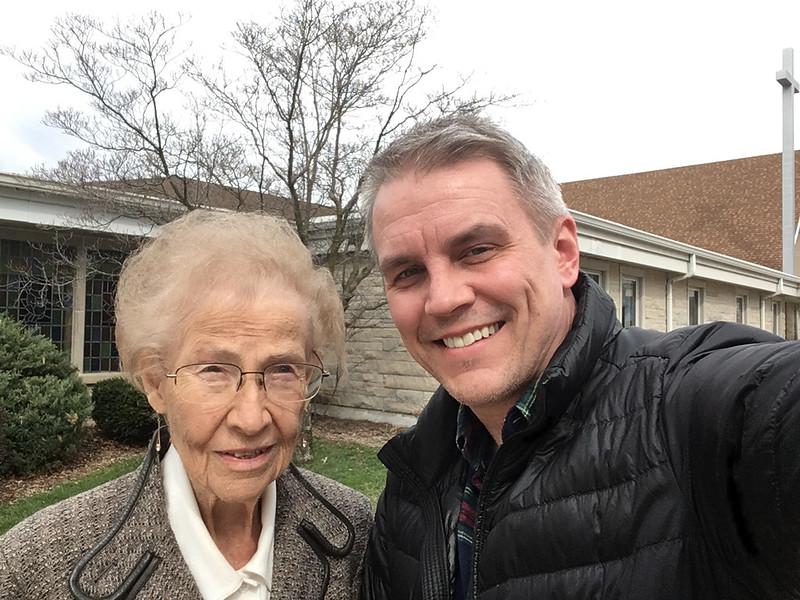 2017.04.02 - Tod & Grandma outside of church