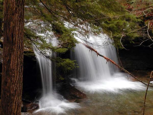 DeBord Falls at Frozen Head State Park, TN located in Morgan County