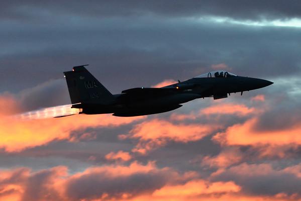 F-15s at dawn and dusk