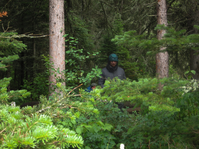 Creepy dudes in the woods.