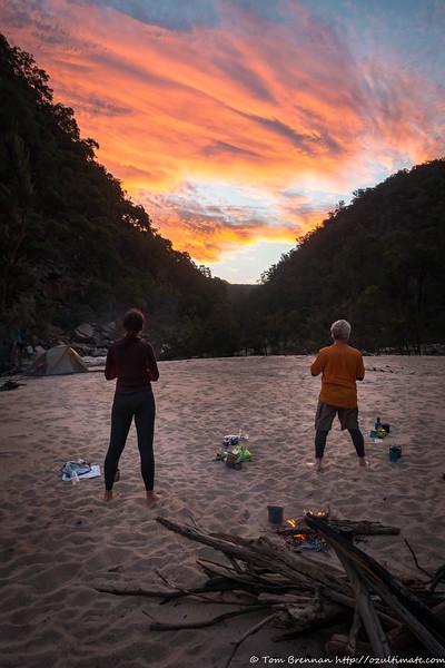 Ljiljana and John K watching the speccy sunset from camp