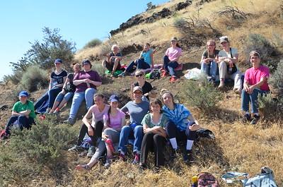 Girls Camp Hike 2017