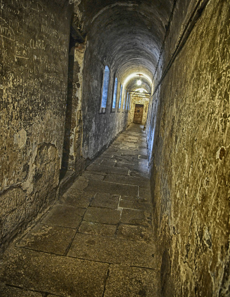 Passageways in the 18th century parts of the prison.
