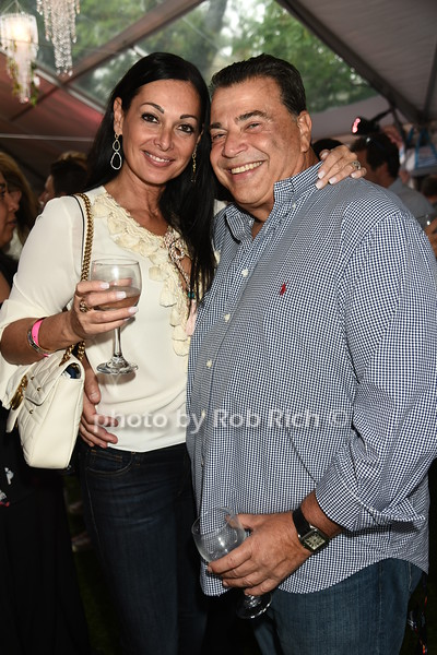 Carol Ladi and Mitchell Blatt attend Dan's Rose' Soiree at the Southampton Arts Center in Southampon on May 28, 2017.