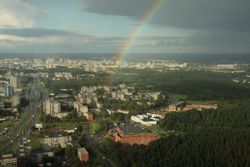 View of Vilnius from atop the TV Tower
