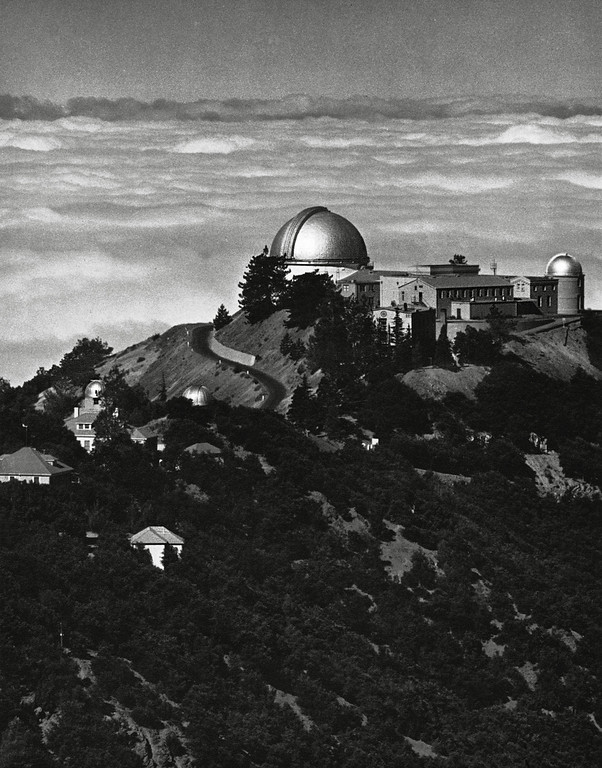 ". The photograph of Lick Observatory is a digital scan from the book ""Fiat Lux,\"" published for the 1968 centennial of the University of California and was taken by famed photographer Ansel Adams. © 2012 Regents of the University of California. All rights reserved."