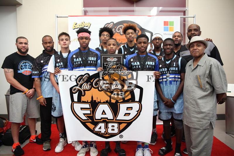Hardwork Basketball White - 8th Grade Diamond Champion