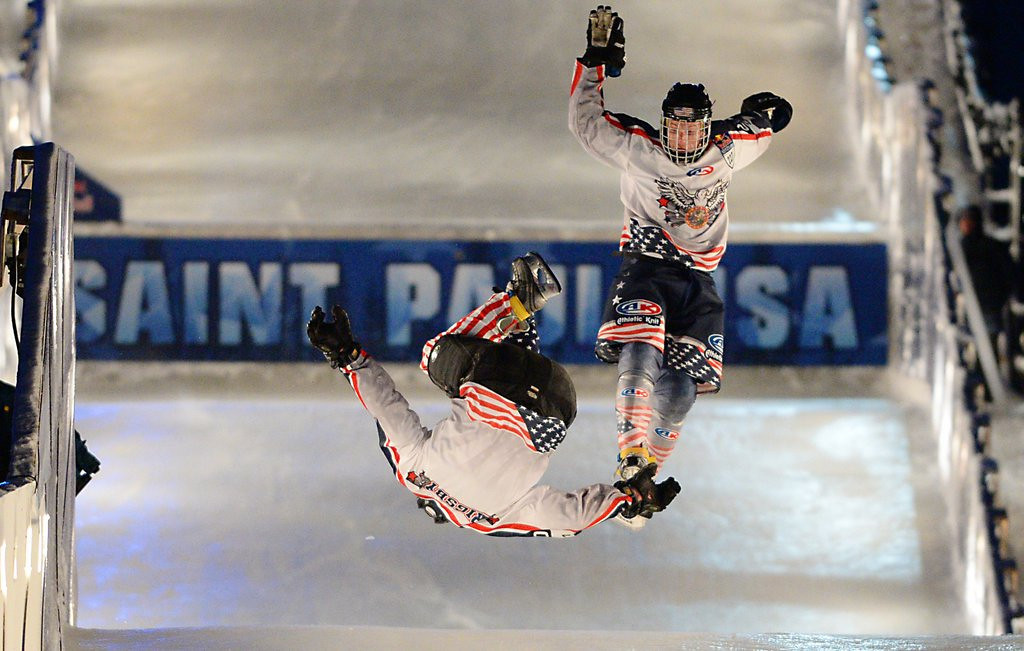 . <p><b>23. CRASHED ICE</b> <p>Junk sport still just a little too junky for the Olympics. <p>  (Pioneer Press: John Autey)
