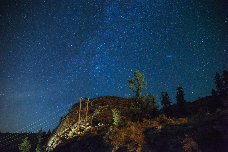 Day 237: Stars over the hill