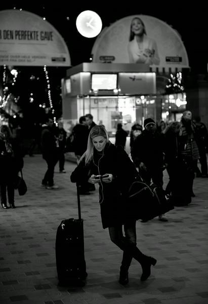 Checking smartphone