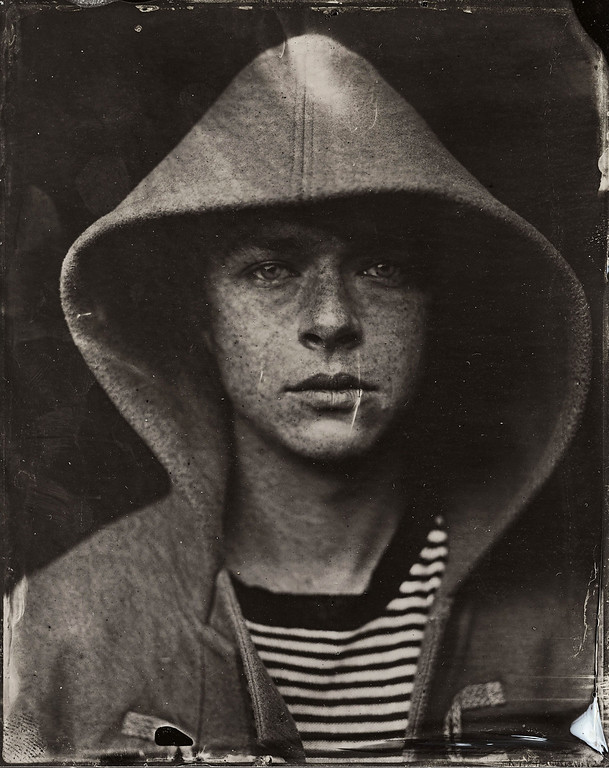 . Dane Dehaan poses for a tintype (wet collodion) portrait at The Collective and Gibson Lounge Powered by CEG, during the 2014 Sundance Film Festival in Park City, Utah. (Photo by Victoria Will/Invision/AP)