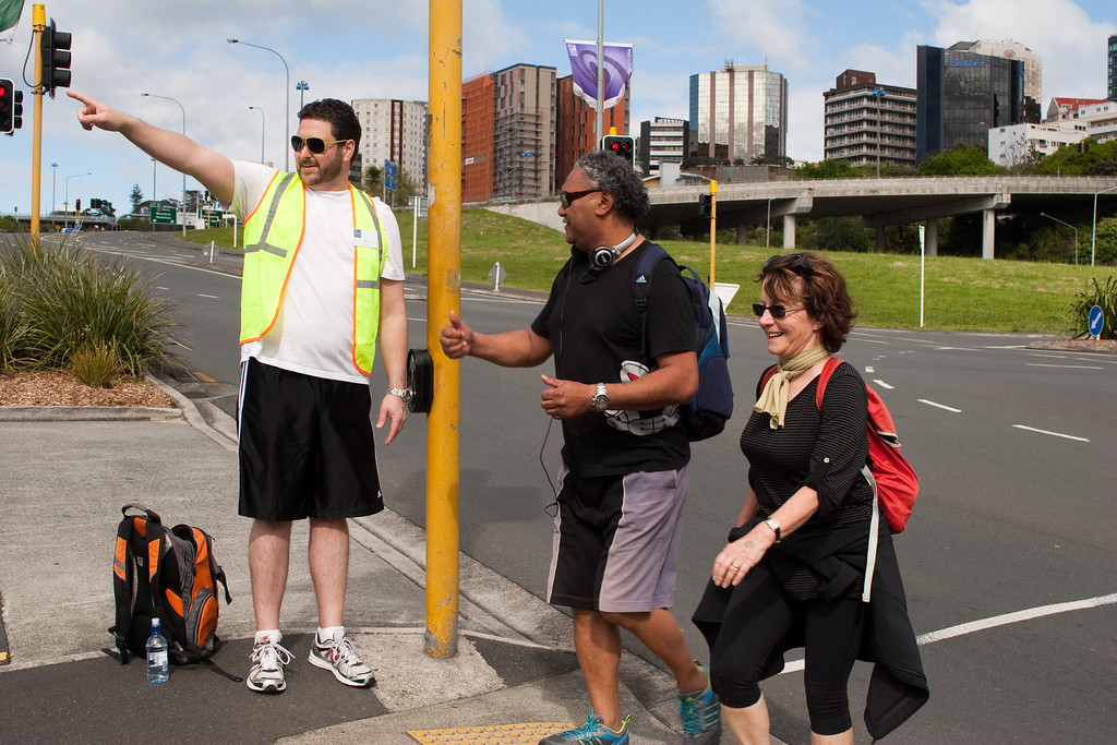 THP Hike_084-1<br /> The Hunger Project Hike4Hunger<br /> Chief Marshall, Zach Norris, and ? ? in Grafton Gully