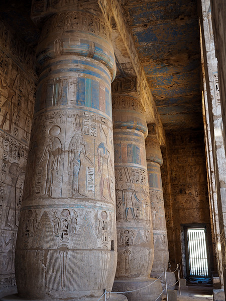 Original paint at Madinat Habu Temple
