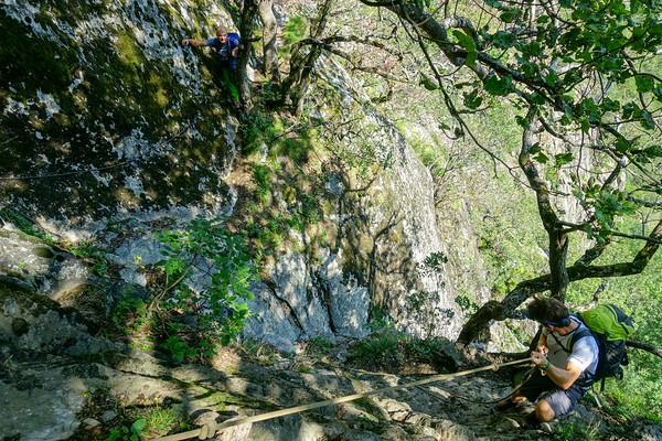 Bravo Lapp 5b, Pissevache, Bas Valais alpine climbing