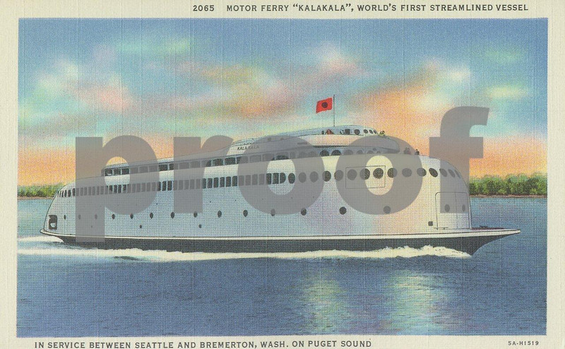 Kalakala 2065: The Kalakala ferry built in 1935 and used in Puget Sound, WA State.