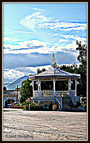 Afternoon at the Bandstand; Town Square, San Jose del Cabo  Copyright © Florence T. Gray. This image is protected under International Copyright laws and may not be downloaded, reproduced, copied, transmitted or manipulated without written permission.