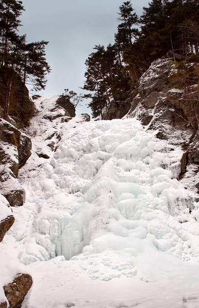 Glen Ellis Falls - Frozen Over in Mid-Winter, Jackson, NH (9459)