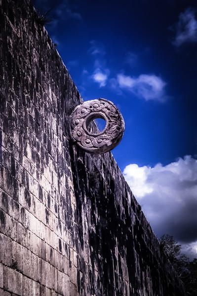 Ball Court at Chichen Itza, Yucatan, Mexico