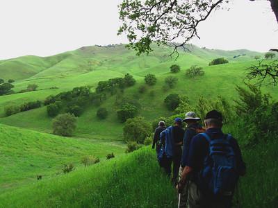 Irish Canyon Hike with Mt. Diablo Adult School Group