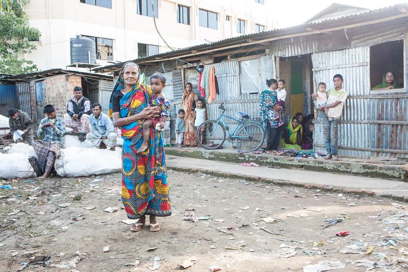 Mehendi Bak Slum. Bangladesh.