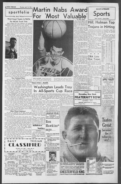Daily Trojan, Vol. 54, No. 100, April 18, 1963