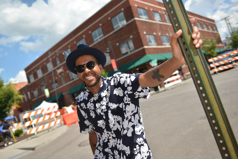 Kemet Coleman at the corner of 18th and Vine near the location for his planned craft brewery.
