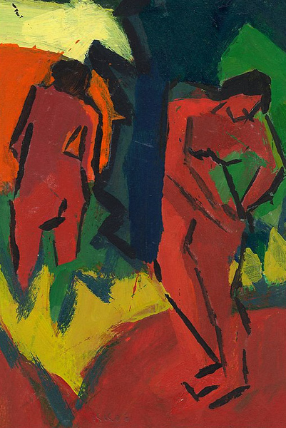 Summer; Nudes Outdoors (after Schmidt-Rottluff)