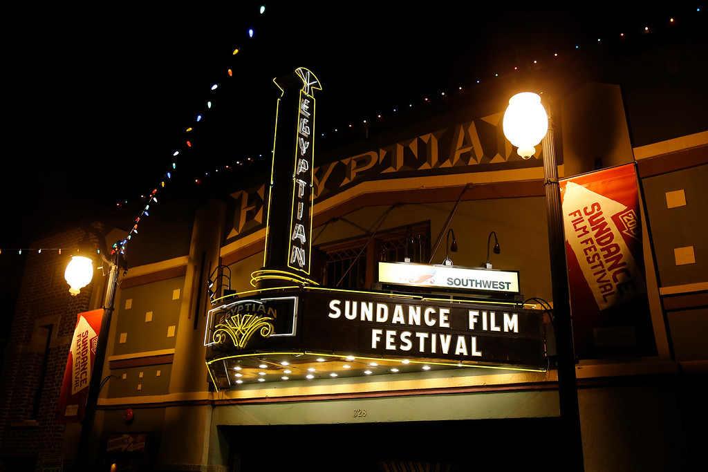 . The marquee at the Egyptian Theatre on Main Street is seen at night during the 2013 Sundance Film Festival on Thursday, Jan. 17, 2013 in Park City, Utah. (Photo by Danny Moloshok/Invision/AP)