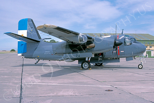 Argentinian  Navy Grumman S-2 Tracker Anti-Submarine Warfare Airplane Pictures for Sale