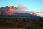 Sunrise on the Vermillion Cliffs.