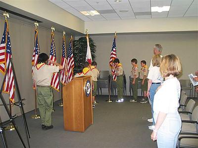4/30/2005 - Flag Ceremony