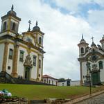 Ouro Preto's numerous churches, Brazil