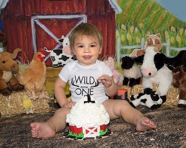 Caden Luft 1st Birthday