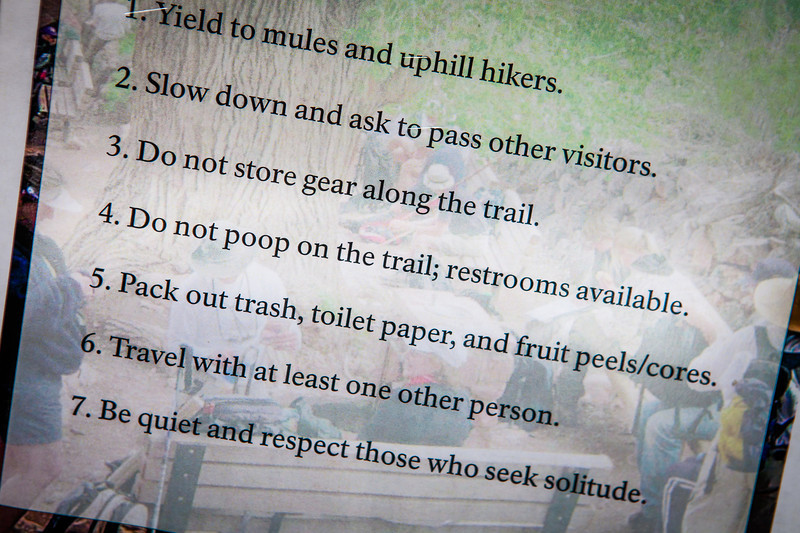 Rule # 4-DO NO POOP ON THE TRAIL!