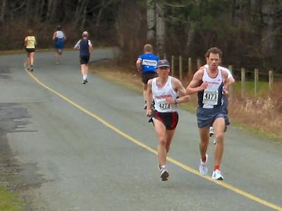 2004 Comox Valley Half Marathon - Finn and Kelvin