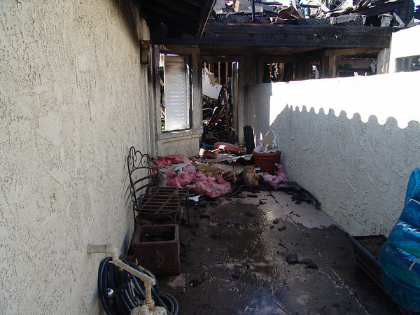 Elaine's Home Destroyed in Fire 2006