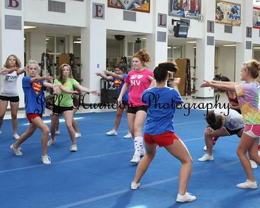 UGHS JV cheer practice 9-23-09