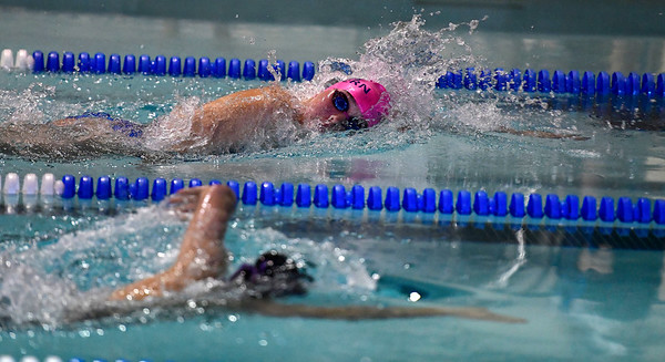 10/12/2019 Mike Orazzi | Staff Bristol Eastern'sTaylor DeMarest during the city swim meet on Saturday night.