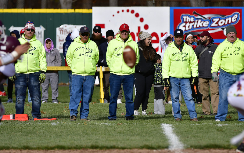 11/28/2019 Mike Orazzi | Staff The chain gang during Thursday's Battle for the Bell at Muzzy Field.